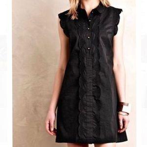 Dear Creatures black ruffle petite medium dress